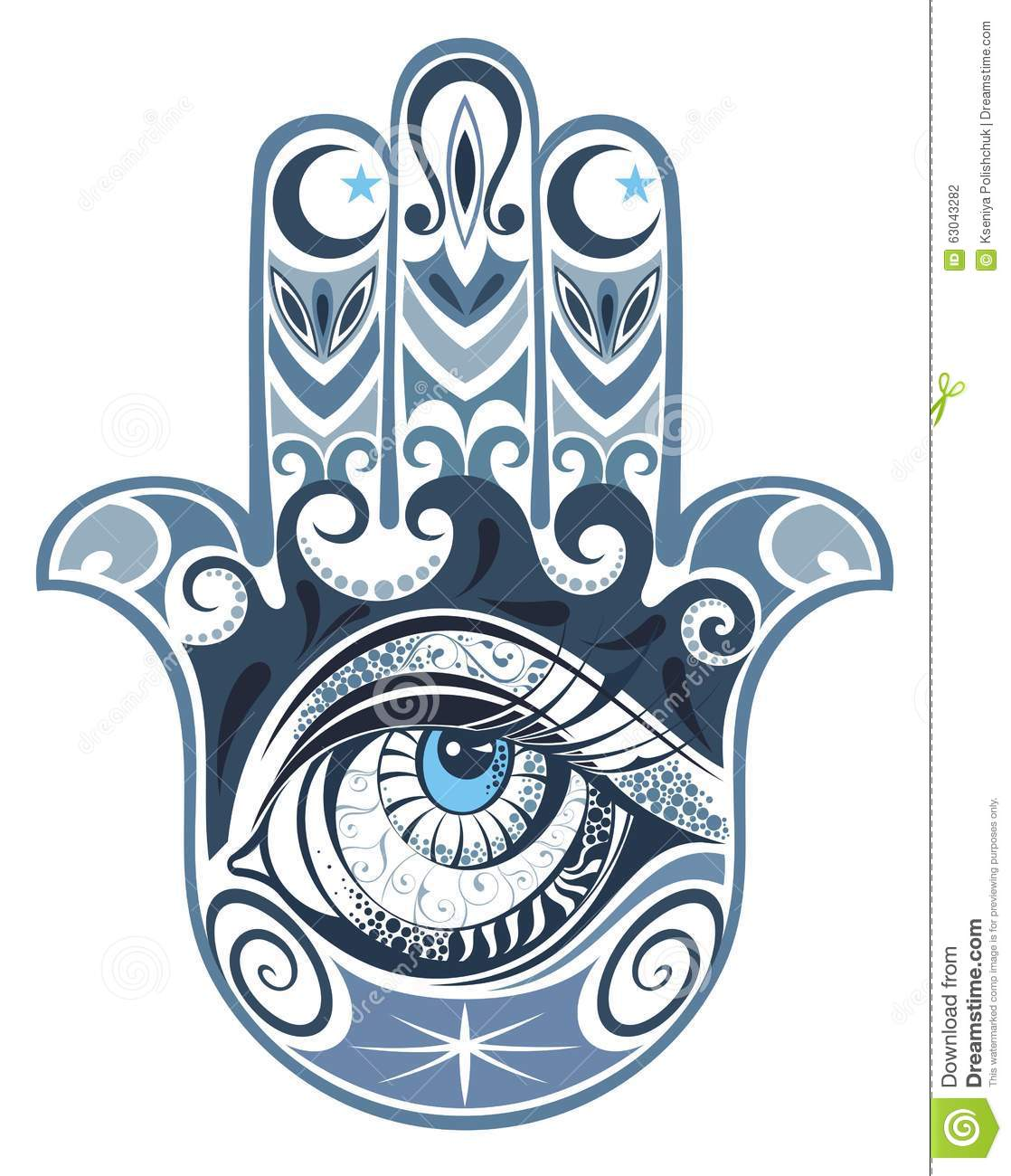 Hamsa Hand Of Fatima Stock Vector Image 63043282