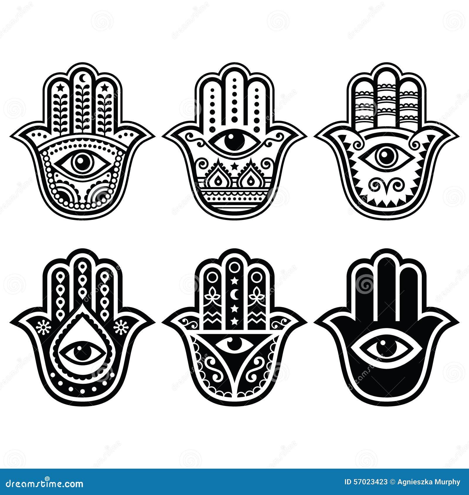 hamsa hand hand von fatima amulett symbol des schutzes. Black Bedroom Furniture Sets. Home Design Ideas