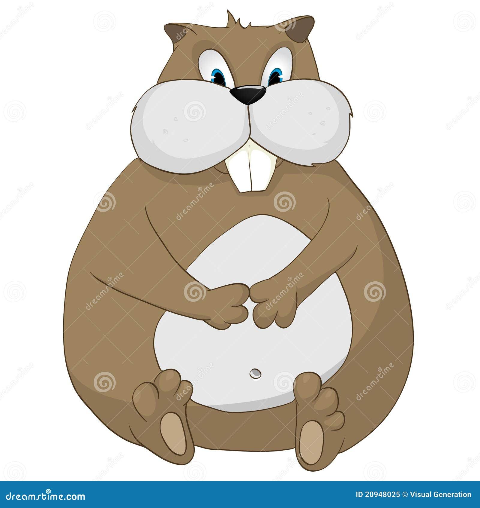 Hamster de personnage de dessin anim photo libre de - Hamster dessin anime ...
