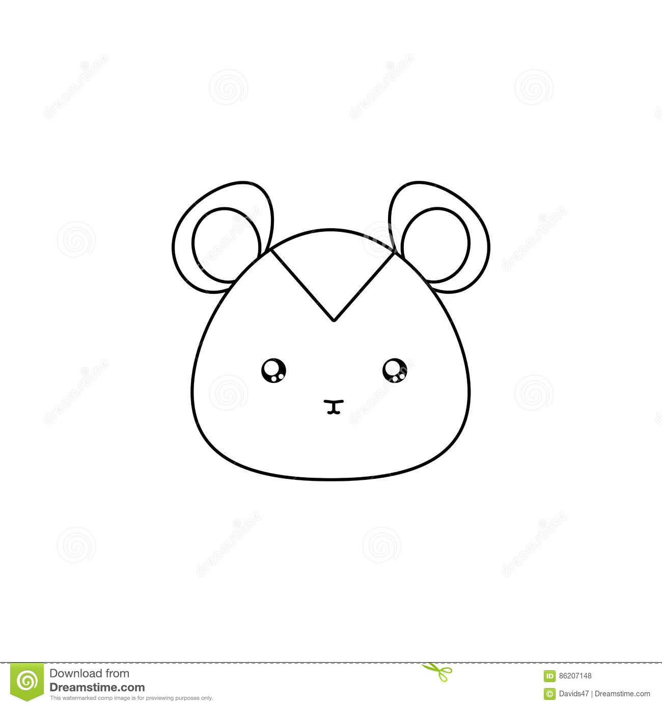 Line Drawing Animal Face : Hamster drawing face stock vector illustration of nature