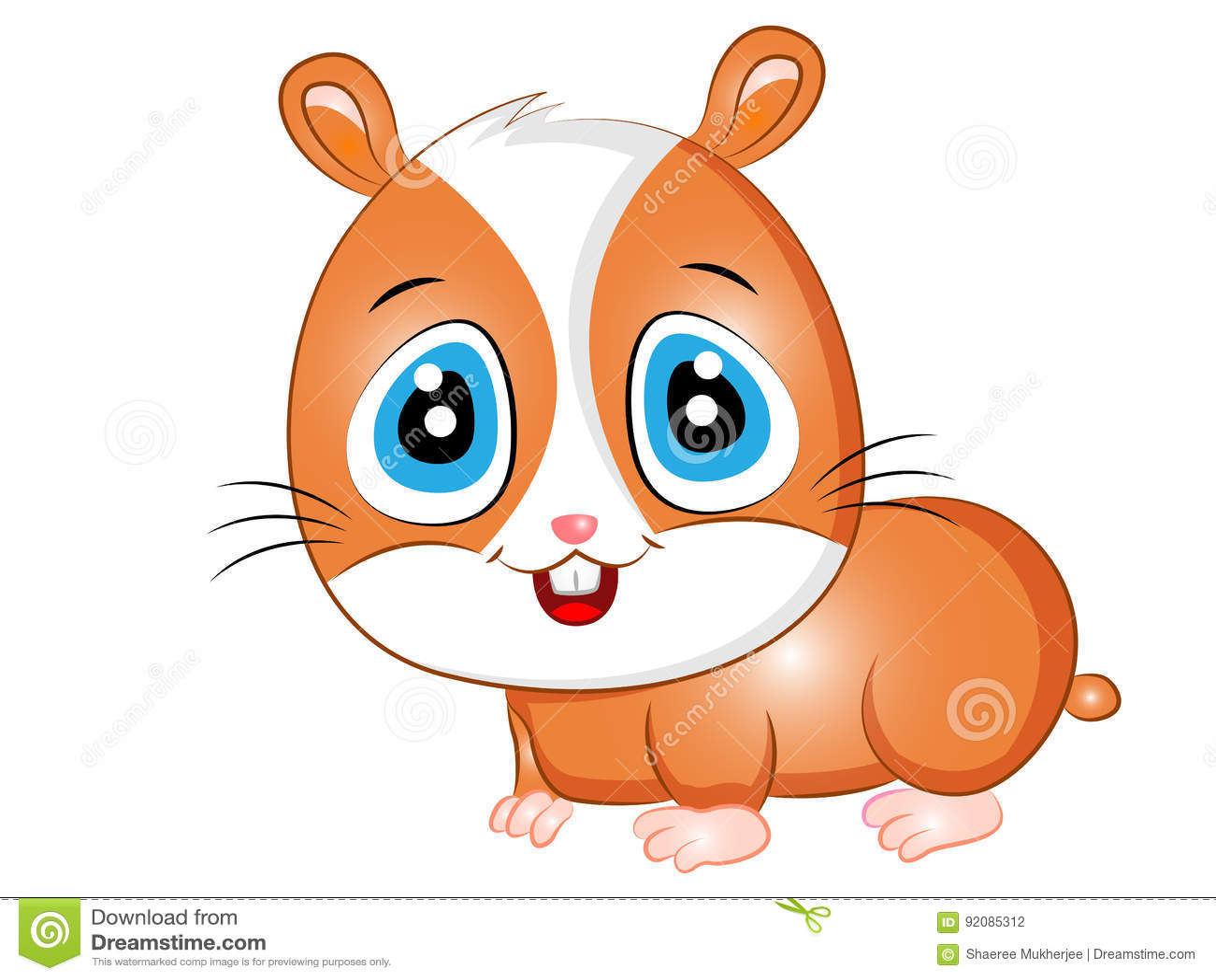 Hamster mignon de dessin anim illustration de vecteur - Hamster dessin anime ...