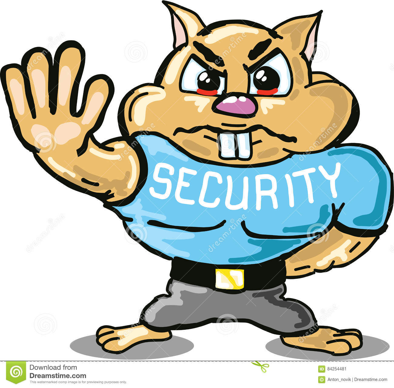 hamster security guard vector sketch illustraiton clip art stock rh dreamstime com security clipart images security clipart gif