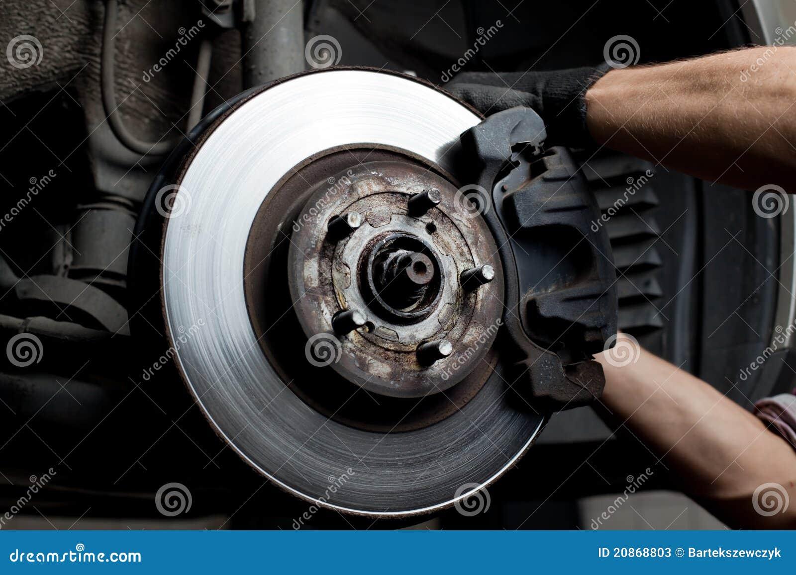 Hamulcowa samochodowego mechanika ochraniaczów naprawa