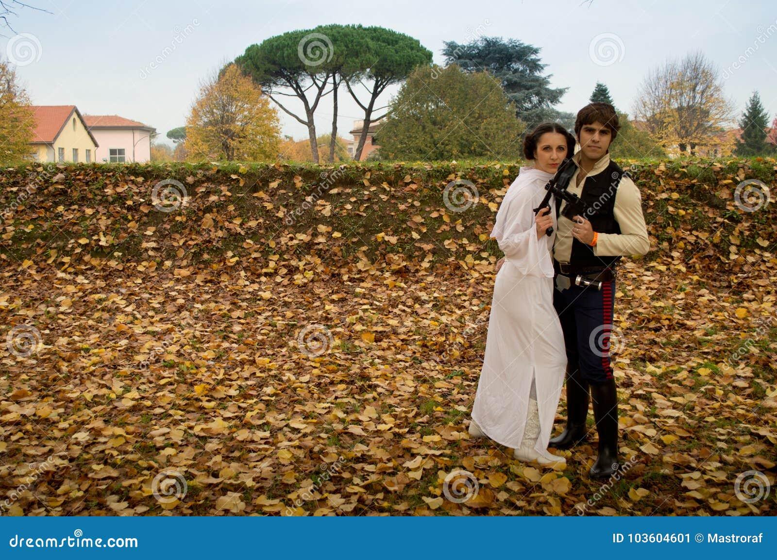 Han i Leia przy Lucca komiczkami 2017 i grami