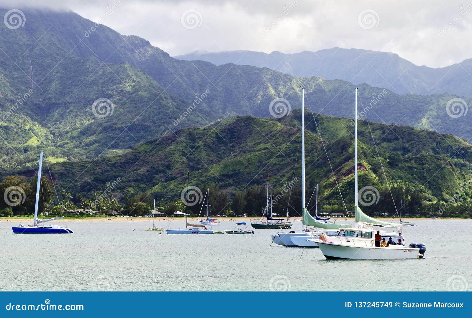 Hanaleibaai, Kauai, Hawaï, de V.S.