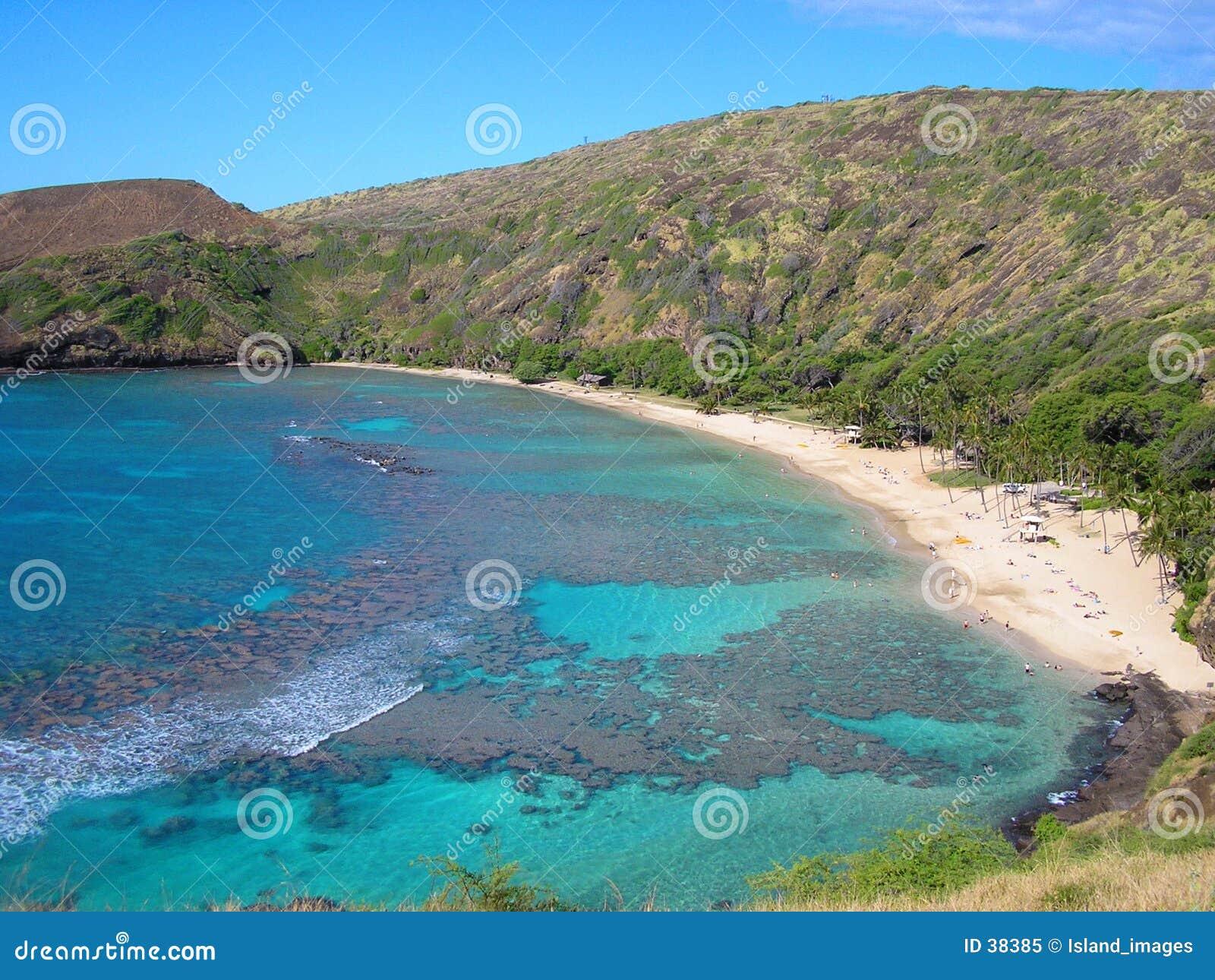 Hanauma Гавайские островы залива