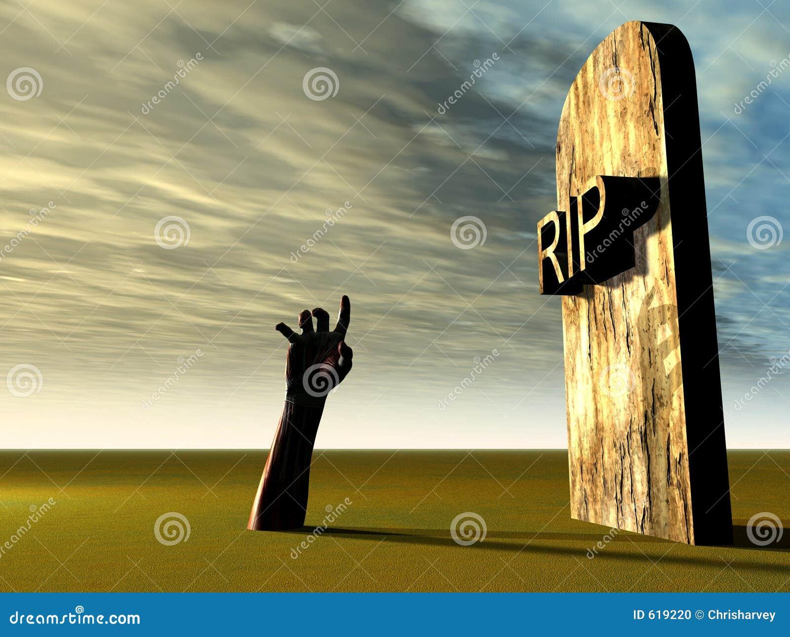 Hand 21 van het kerkhof