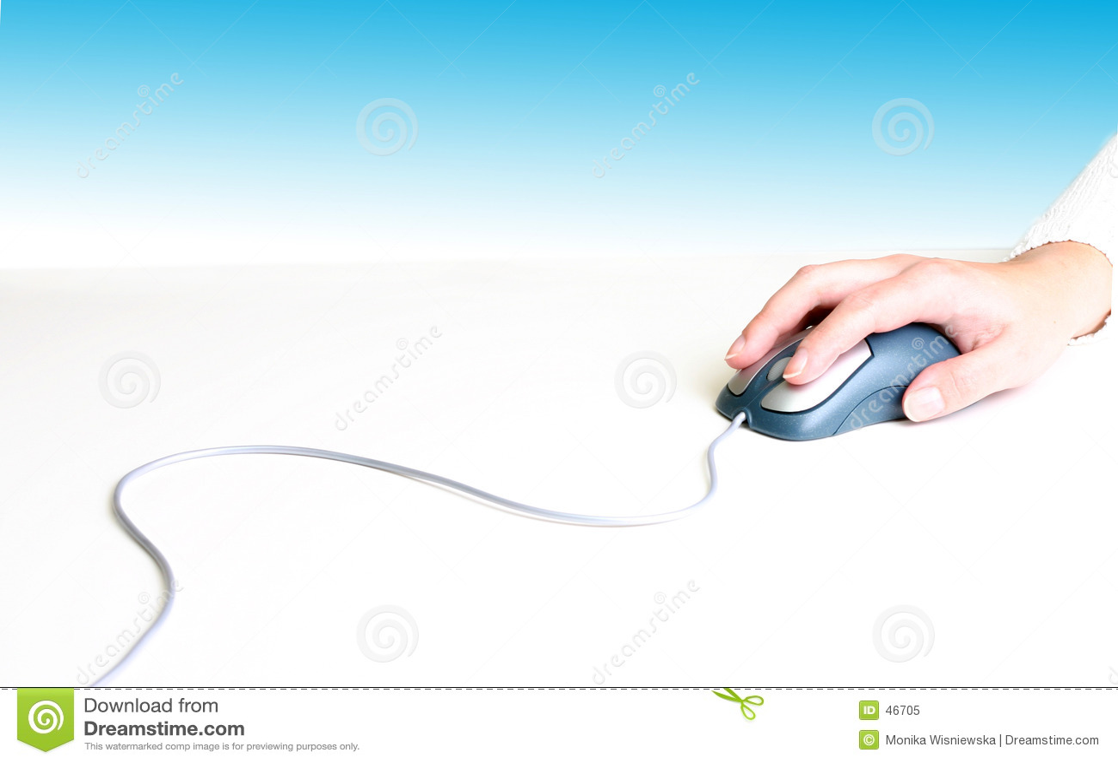 Hand auf Maus