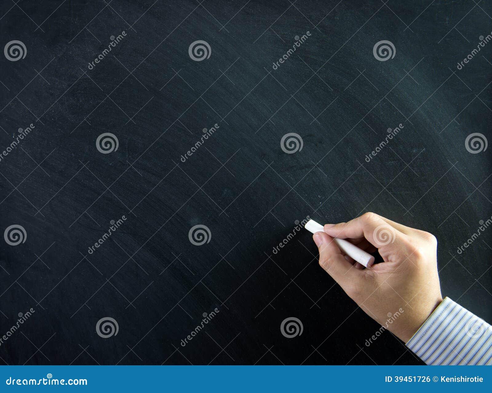 Hand auf Tafel
