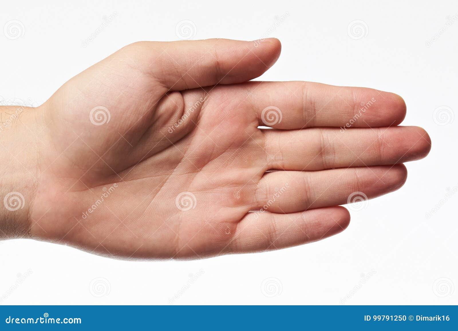 Hand av den unga kvinnan