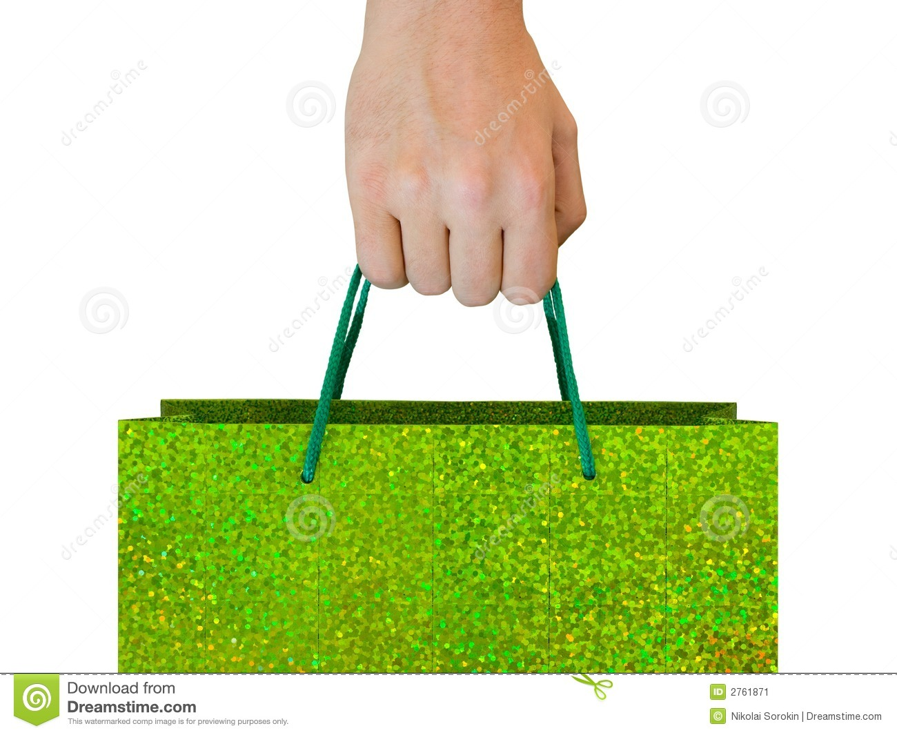 Hand With Bag Stock Image - Image: 2761871