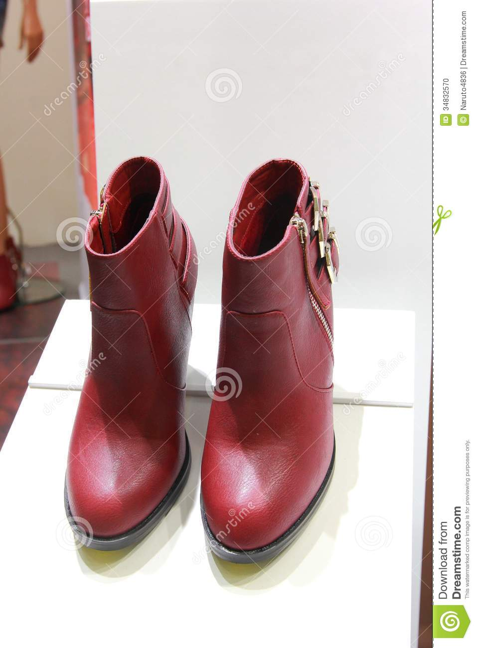 leather boots stock photo image 34832570