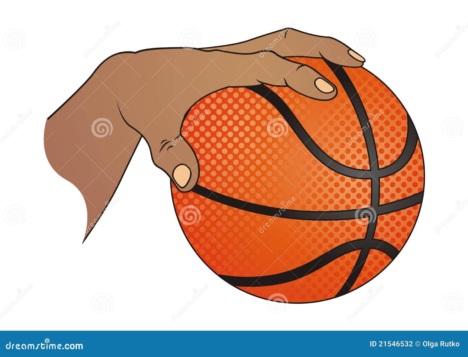 Hand With Basketball Stock Photography - Image: 21546532