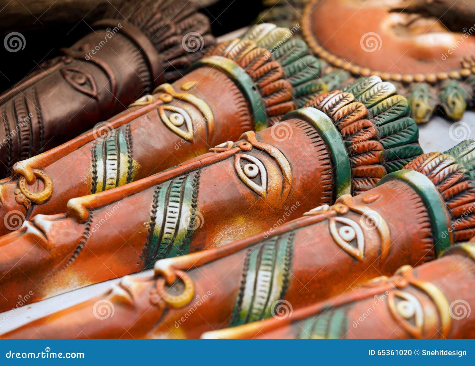 Hand bewerkte maskers