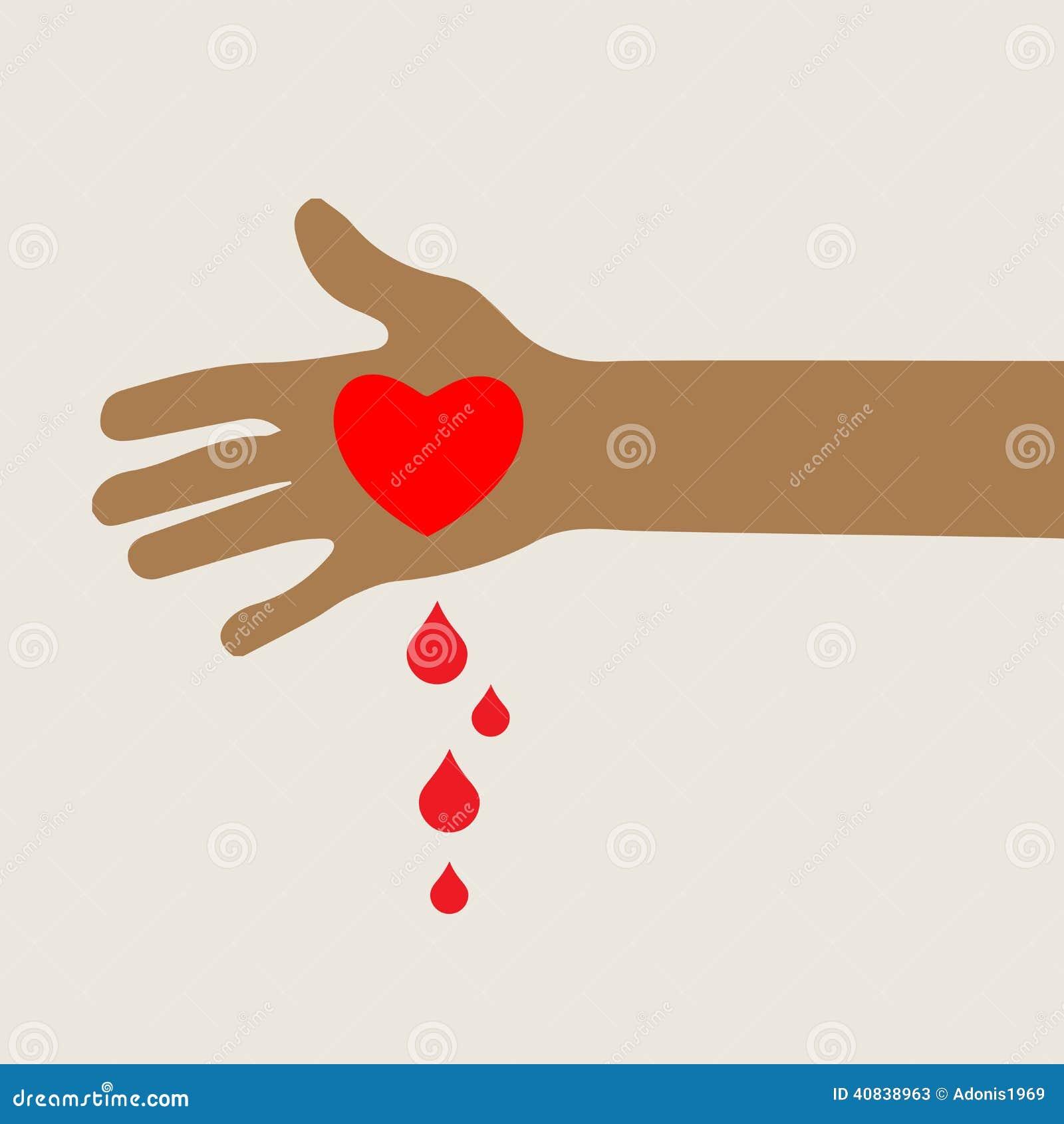 Hand with bleeding love heart stock illustration illustration of hand with bleeding love heart buycottarizona