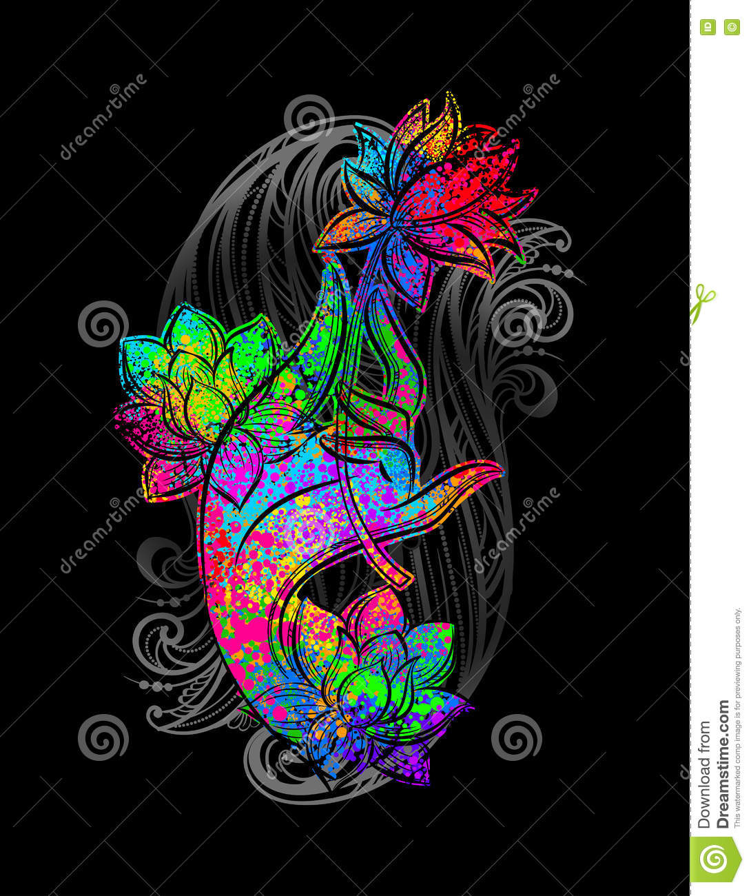 Hand Buddha holding lotus stock vector  Illustration of