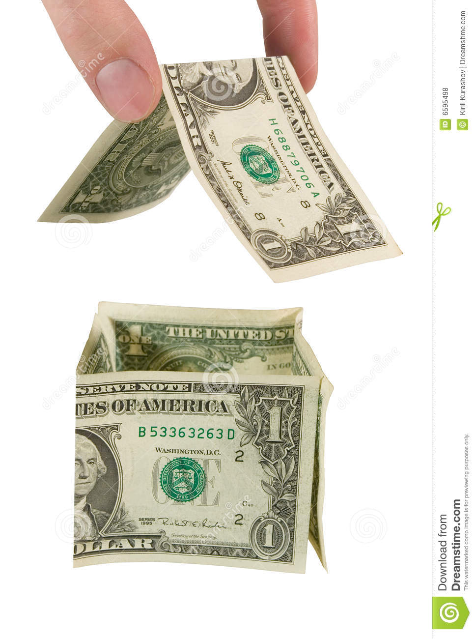 Hand Building A Money House Royalty Free Stock Photos