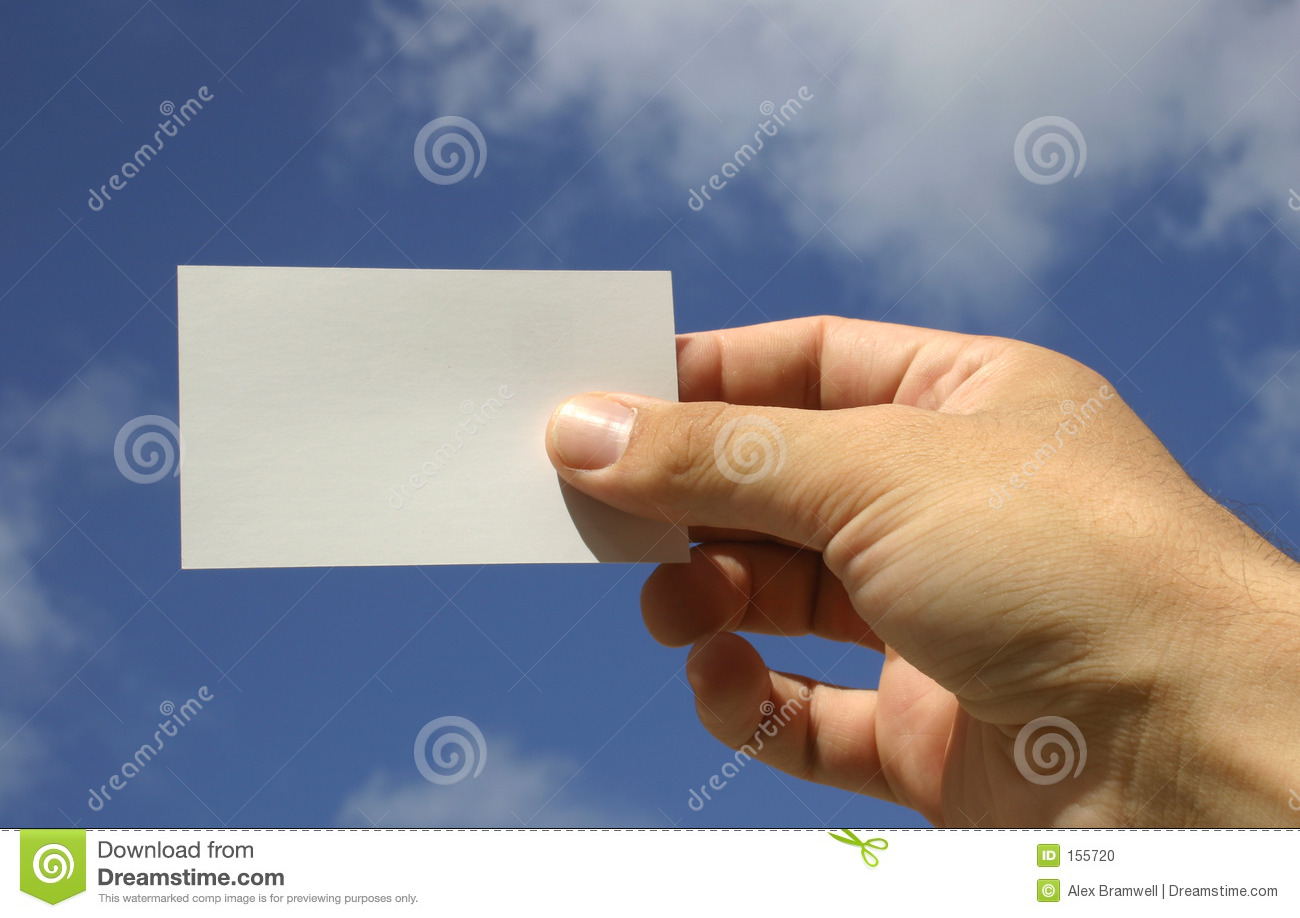 Hand and Business Card