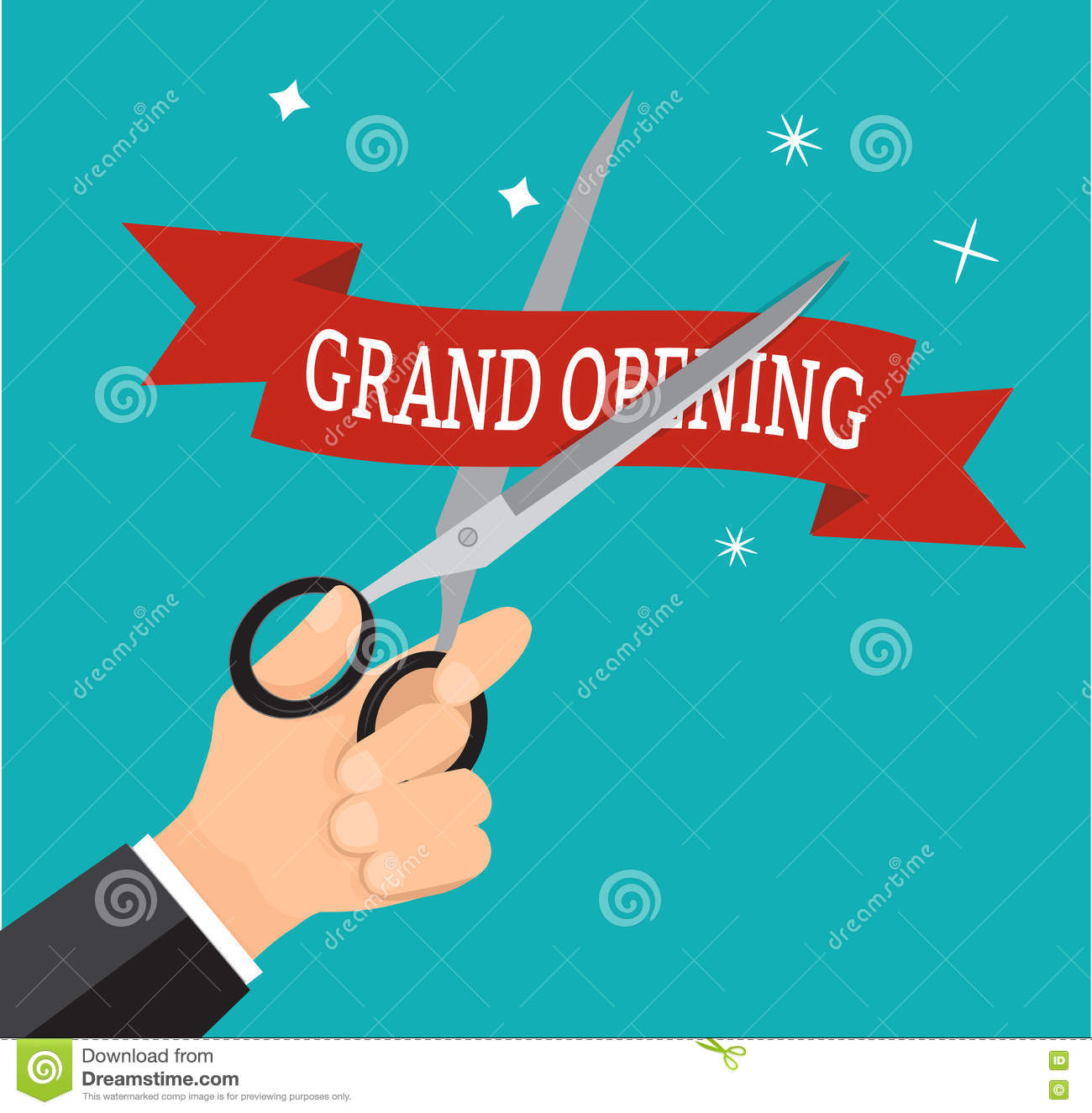 New Business Grand Opening Mockup Celebration At The