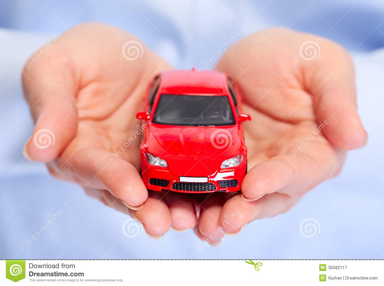 Expensive Car For Sale Or Gift Royalty Free Stock Image: Hand With Car. Royalty Free Stock Photography