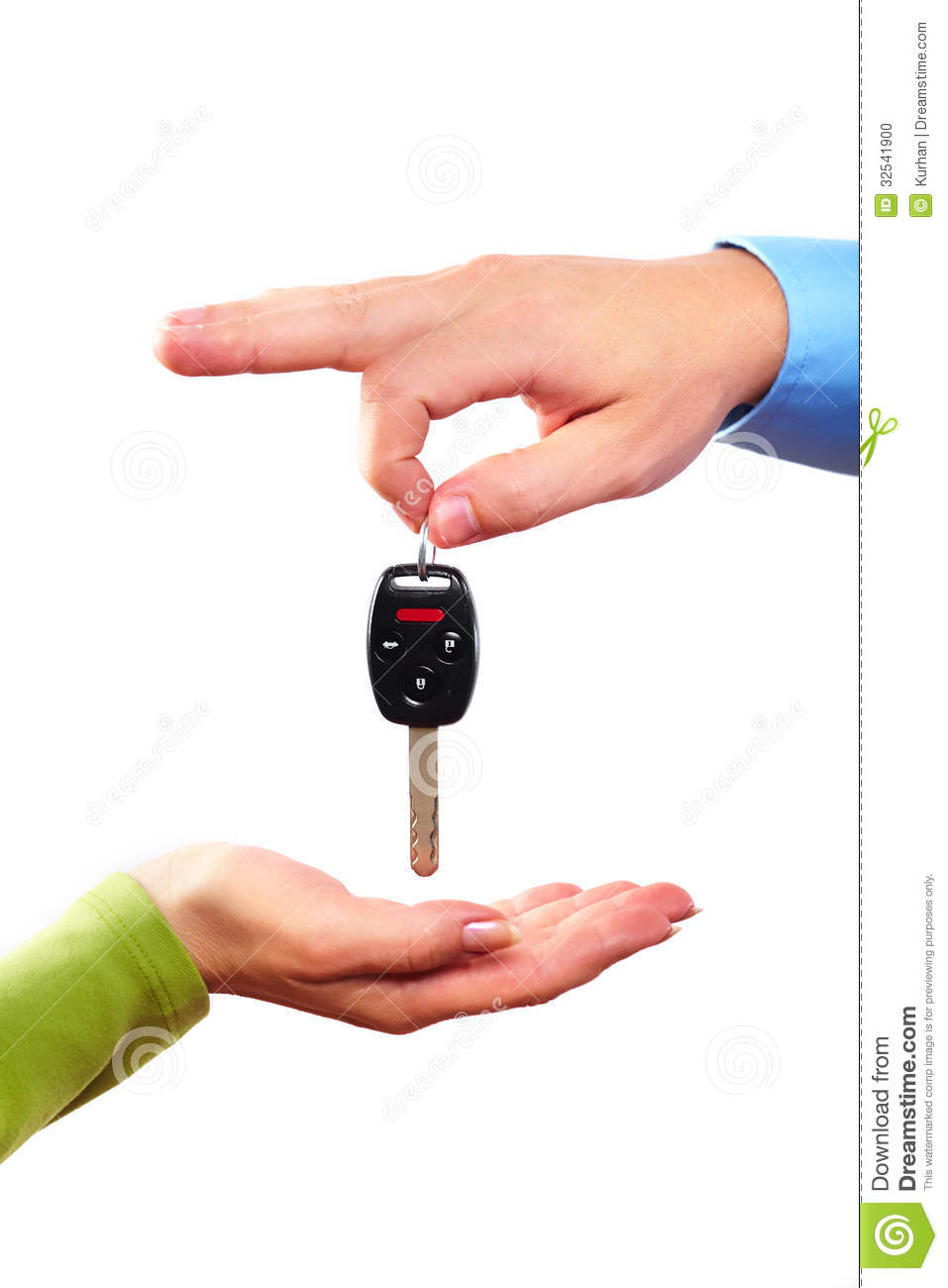 Hand With A Car Key Stock Photo Image 32541900