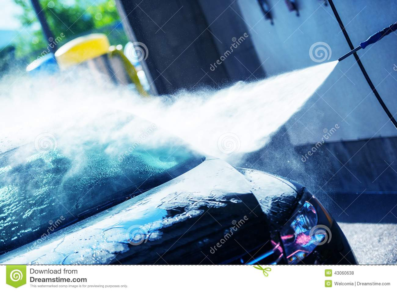 Soap Car Wash >> Hand Car Wash Cleaning Stock Photo - Image: 43060638
