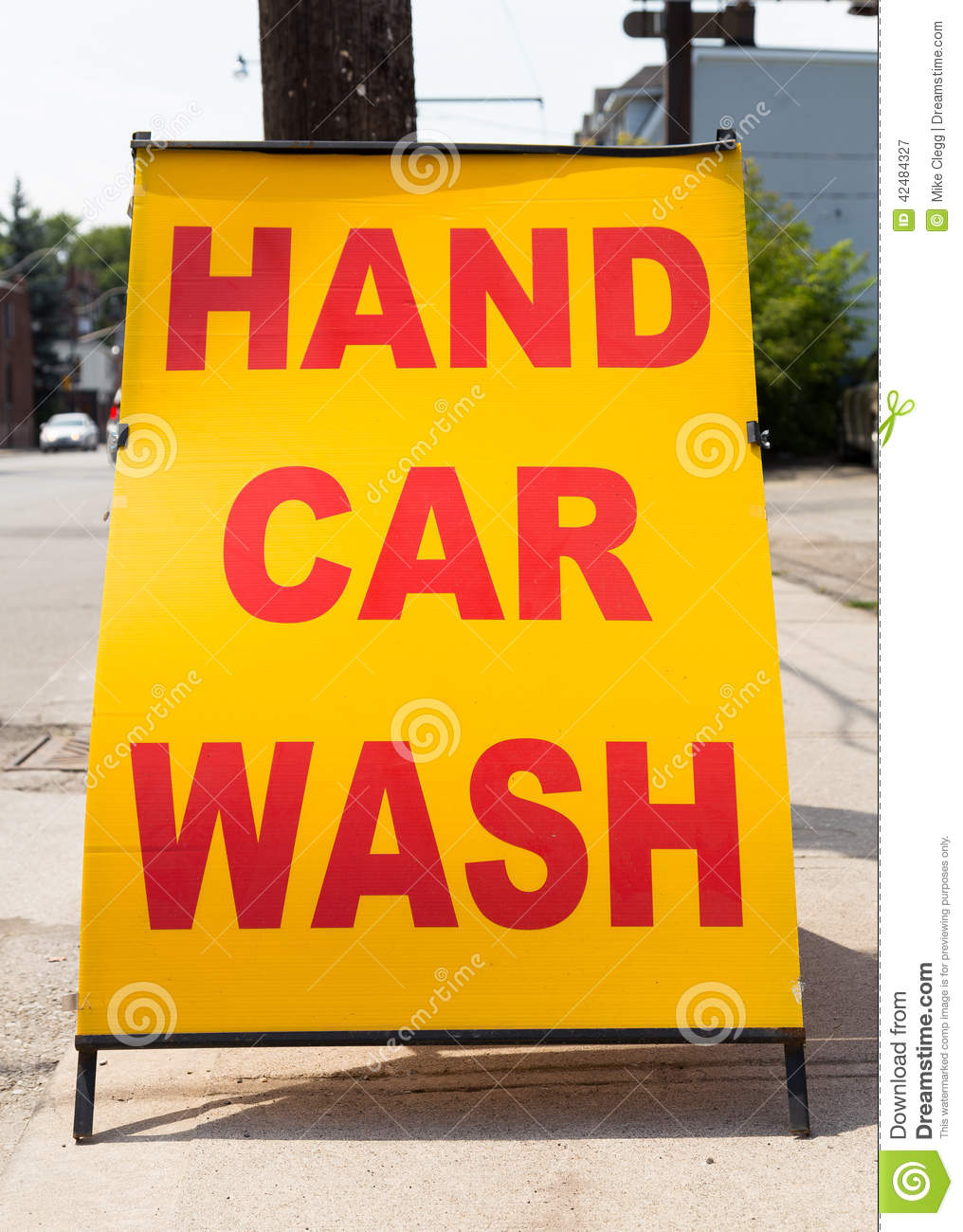 Hand Car Wash Stock Image Image Of Message Image Business 42484327