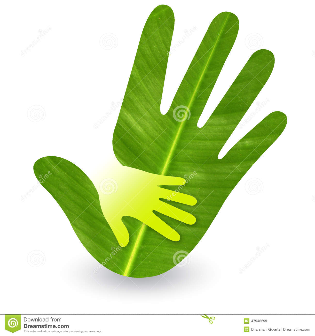 Stock Photo Hand Care Logo Leaf Emboss Isolated Background Image47948299 on Architecture Design House Plans