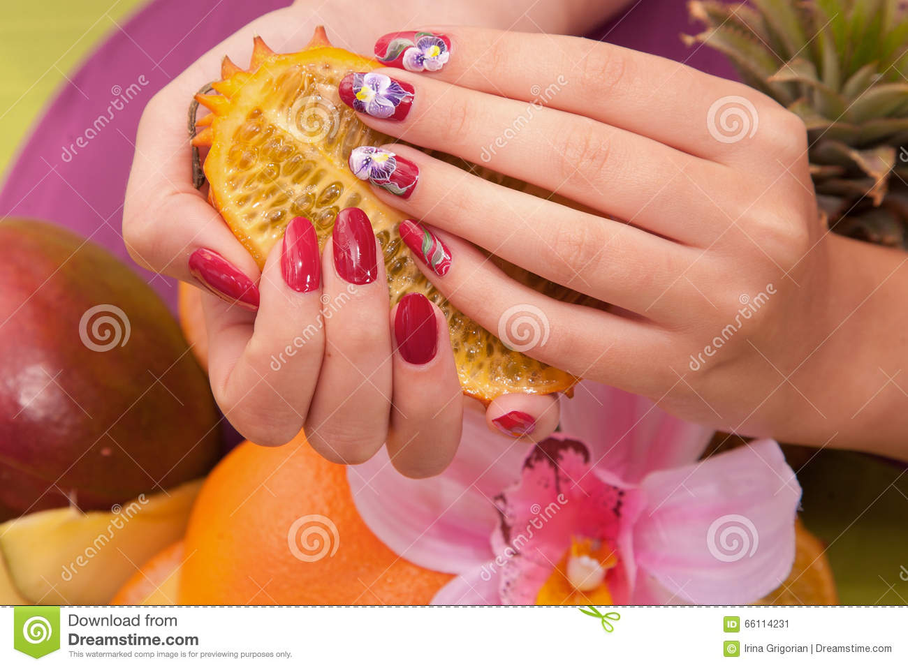 Hand Care Spa Stock Image Image Of Pink Orchid Body 66114231