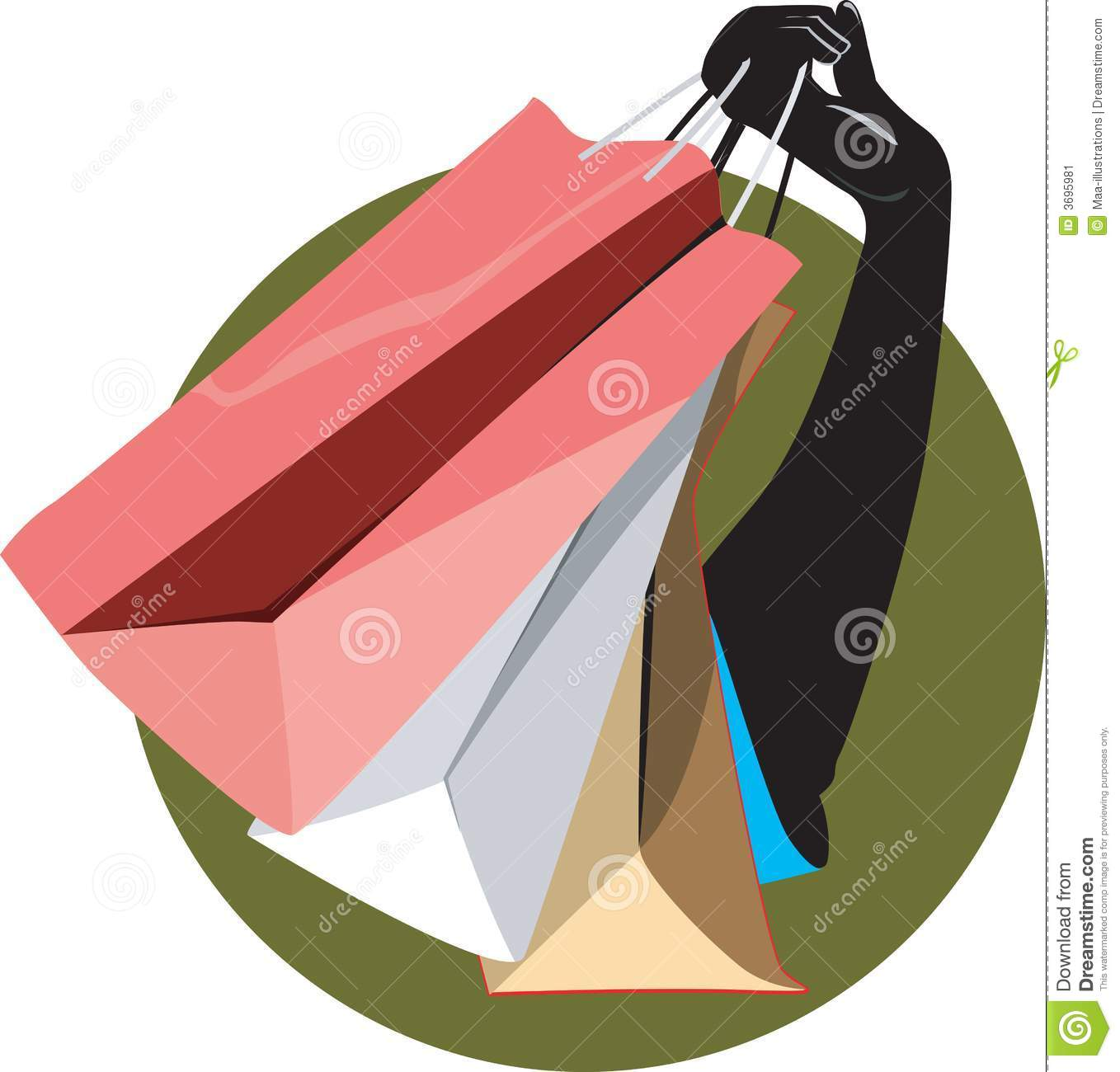 Hand And Carrying Bag Stock Vector Illustration Of Shopping 3695981