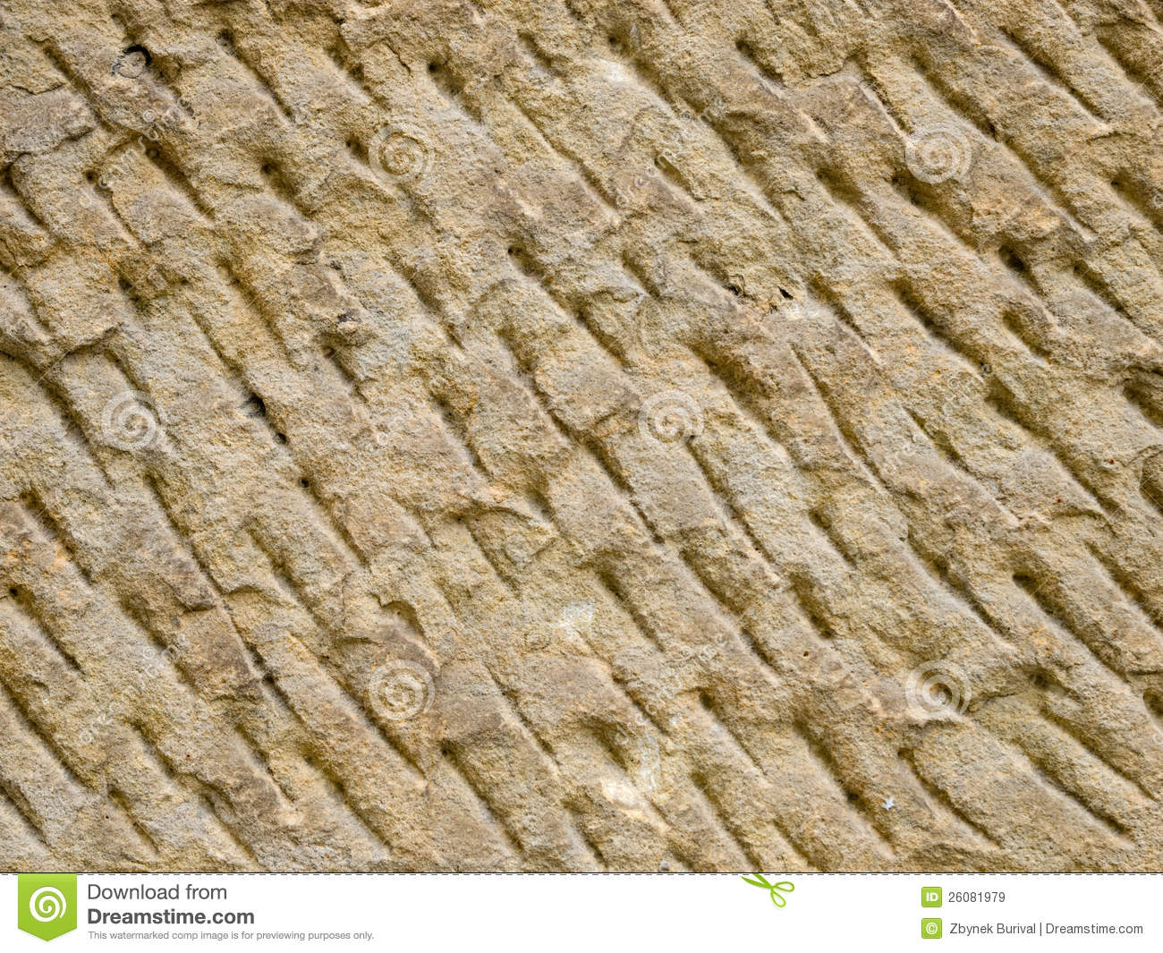Hand carved stone texture stock image of pattern