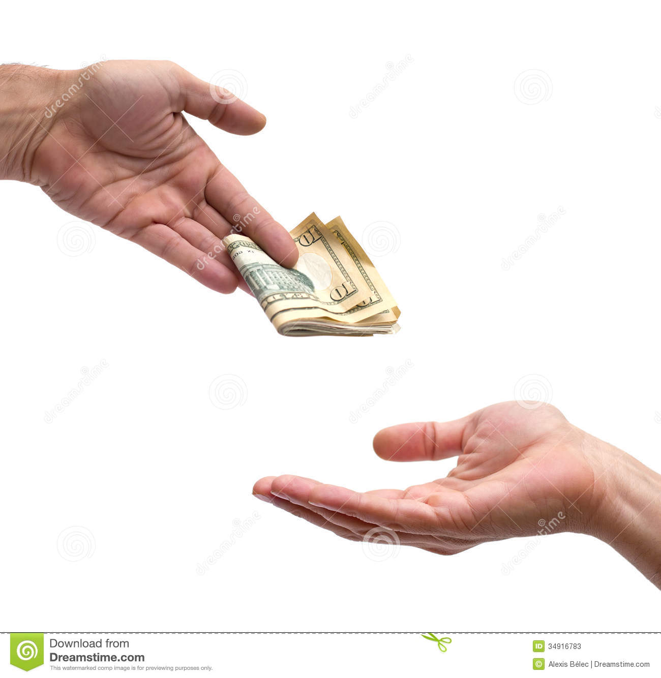 Hand And Cash Stock Photos - Image: 34916783