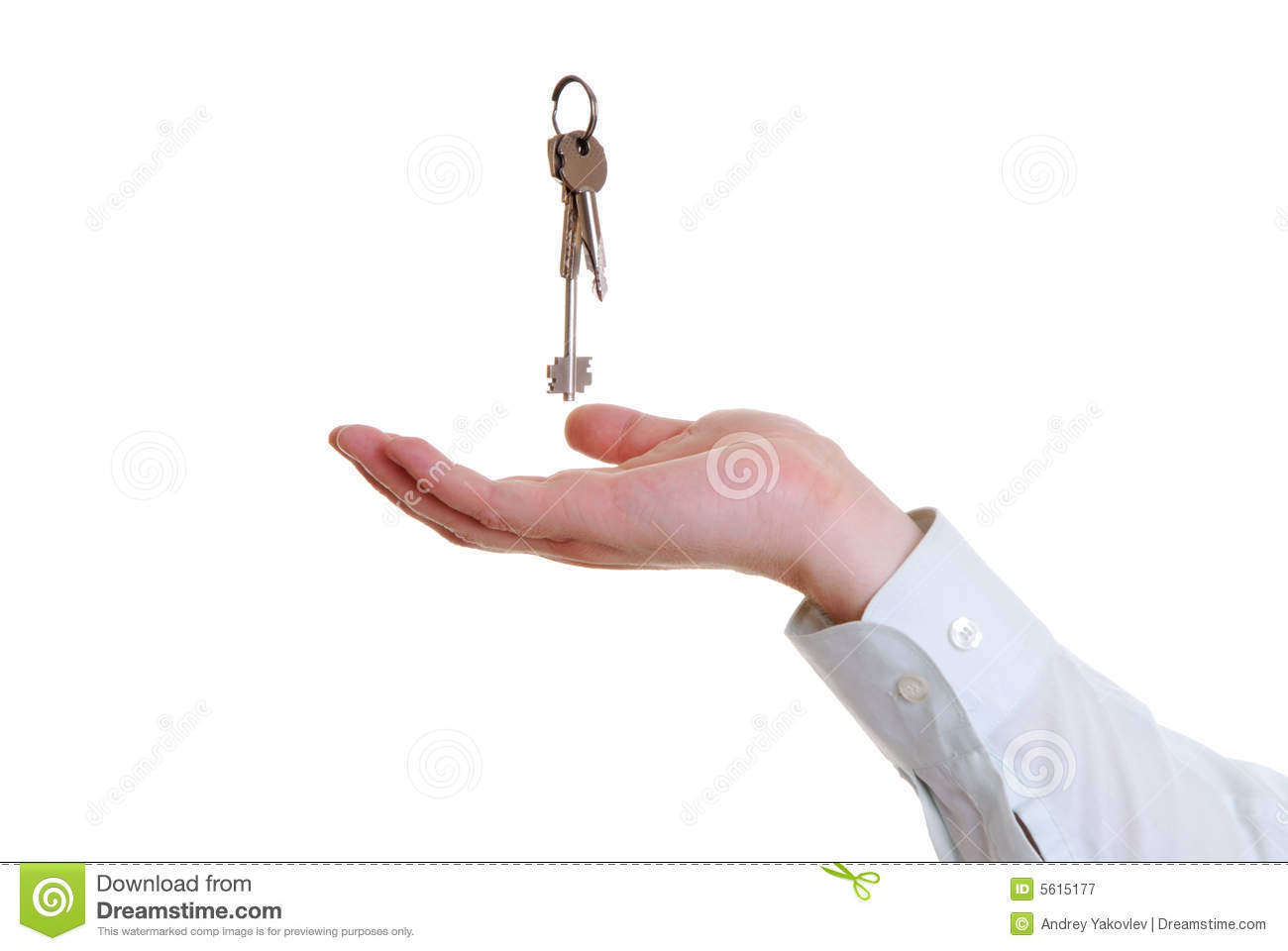 The hand that is catching the keys