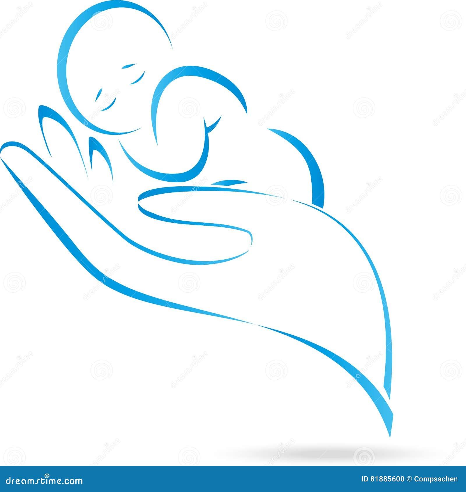 Hand Child Baby Logo Stock Vector Illustration Of