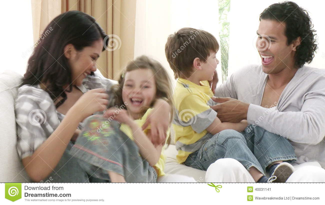 Hand Choosing Clips About Families At Home Stock Video - Video of mixed,  hair: 40031141