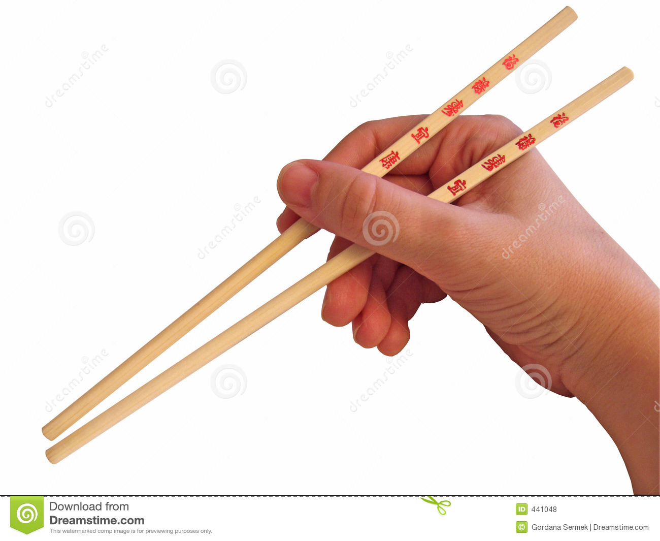 Hand And Chopsticks Royalty Free Stock Photos - Image: 441048