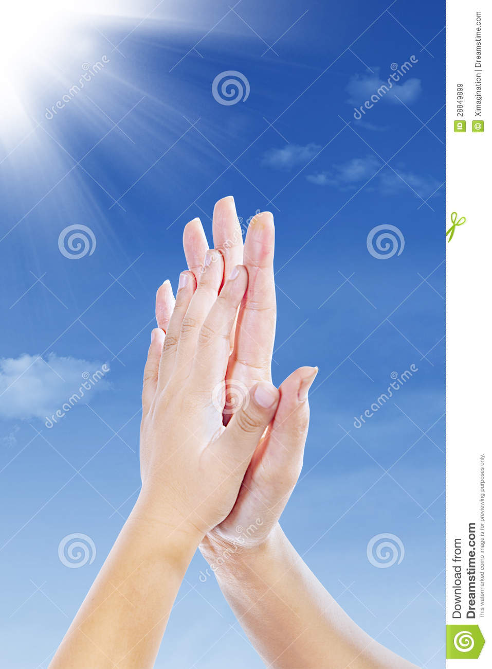 Hand Clap Gestures Outdoor Royalty Free Stock Images