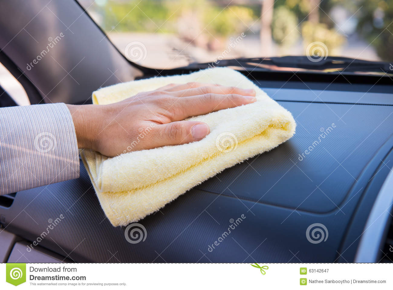 hand cleaning car with microfiber cloth stock photo image 63142647. Black Bedroom Furniture Sets. Home Design Ideas