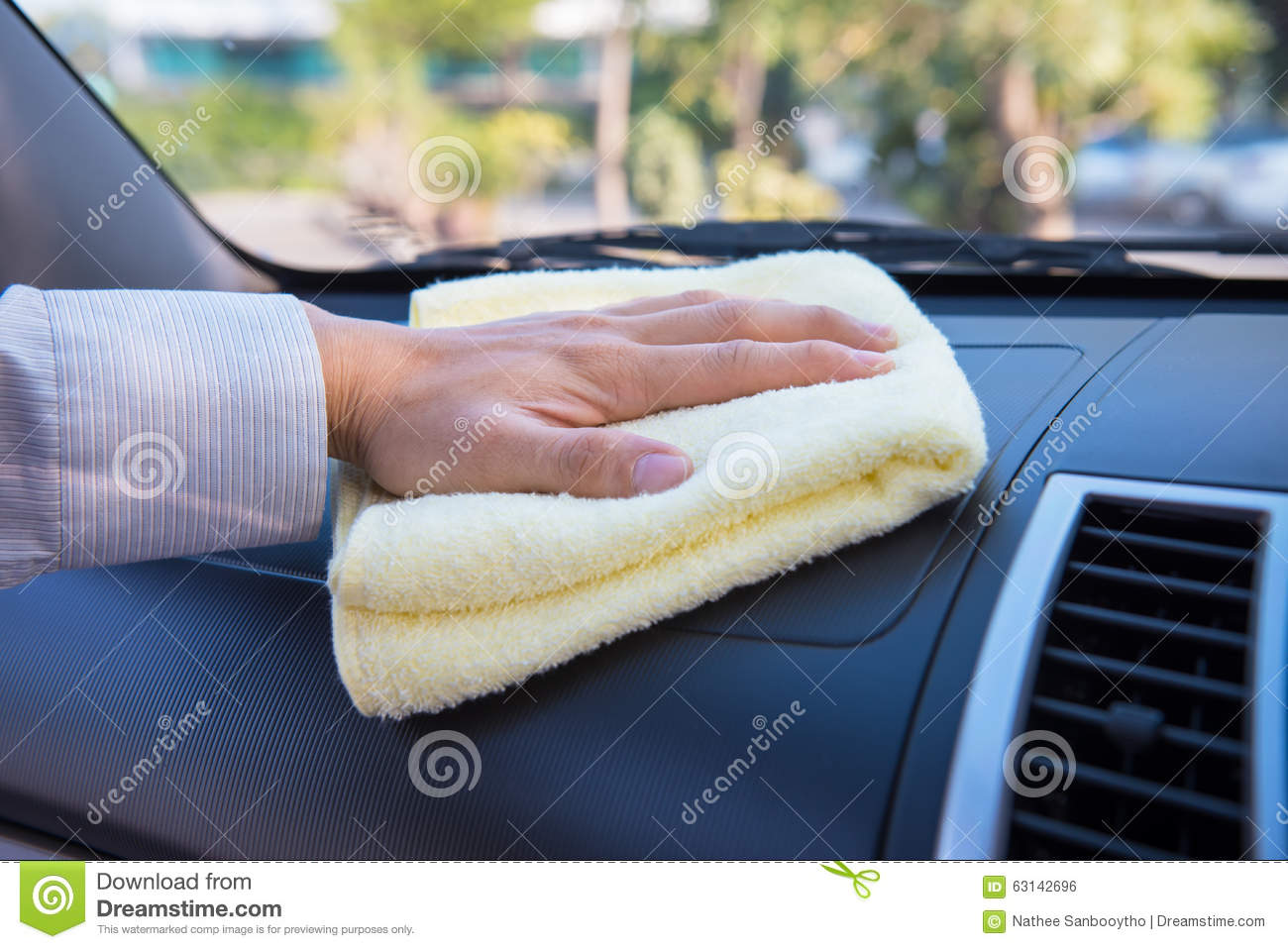 hand cleaning car with microfiber cloth stock photo image 63142696. Black Bedroom Furniture Sets. Home Design Ideas