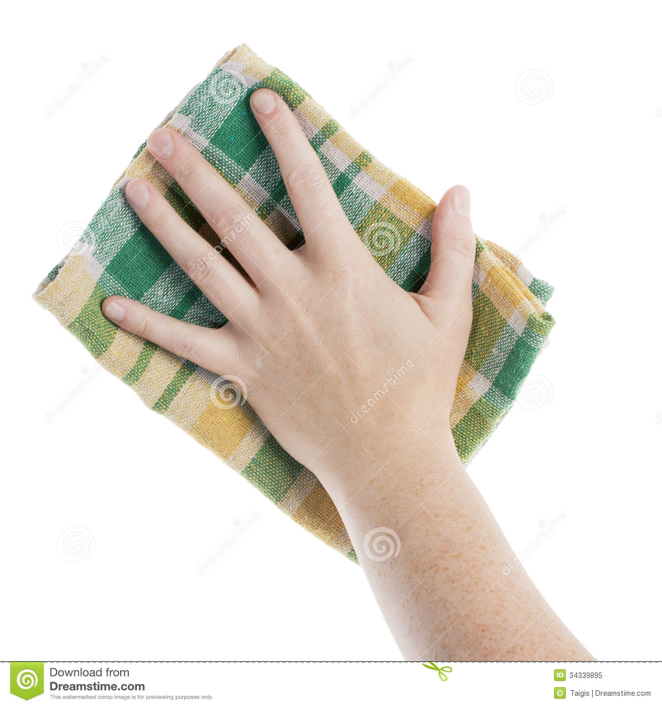 Hand With Cleaning Cloth Royalty Free Stock Photo Image