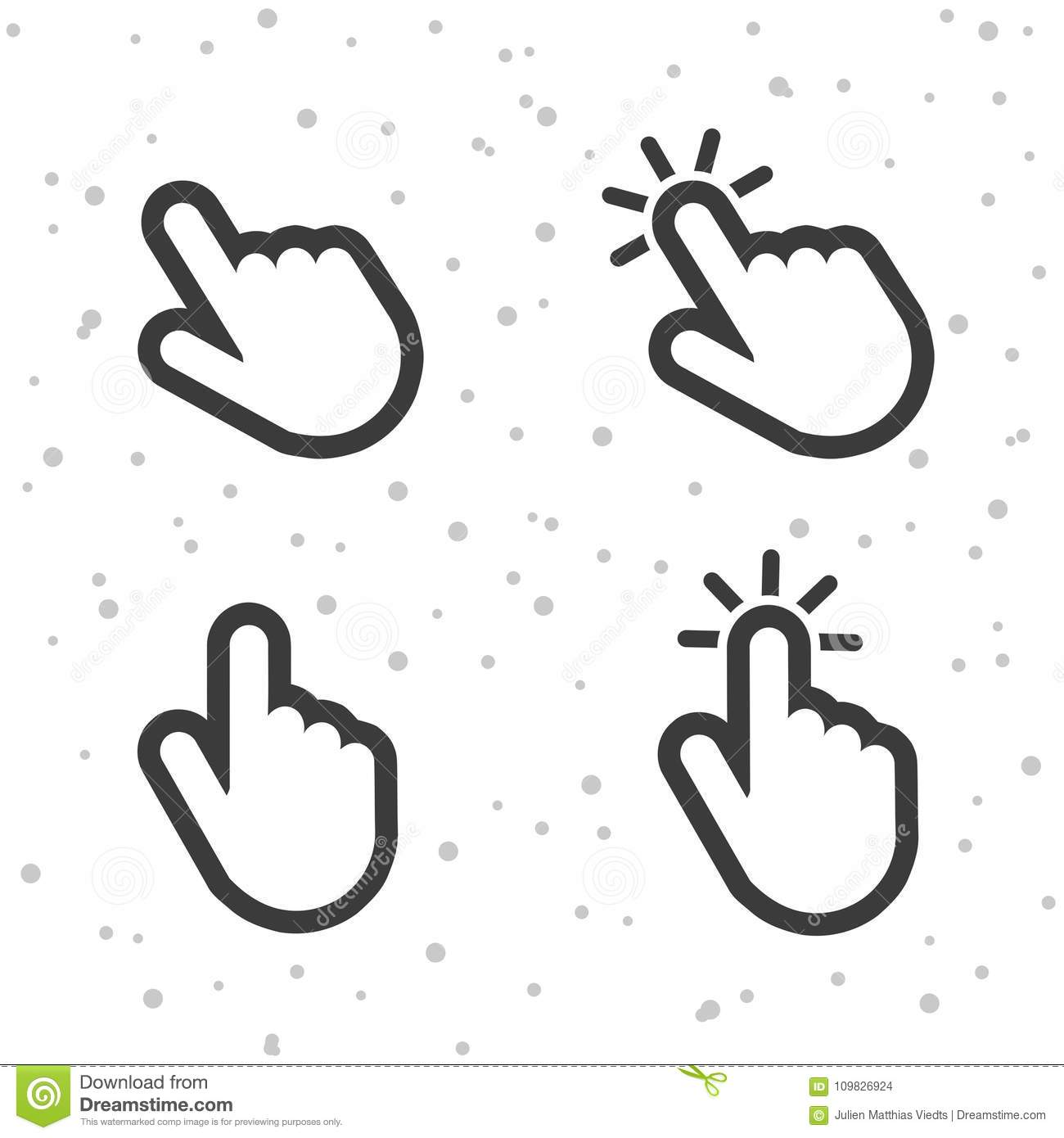 Hand click pointer icons finger touch symbols for apps and websites finger touch symbols for apps and websites buycottarizona Choice Image