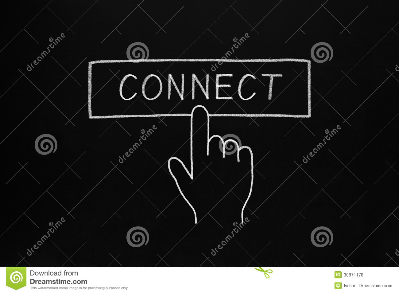 Hand Clicking Connect Button