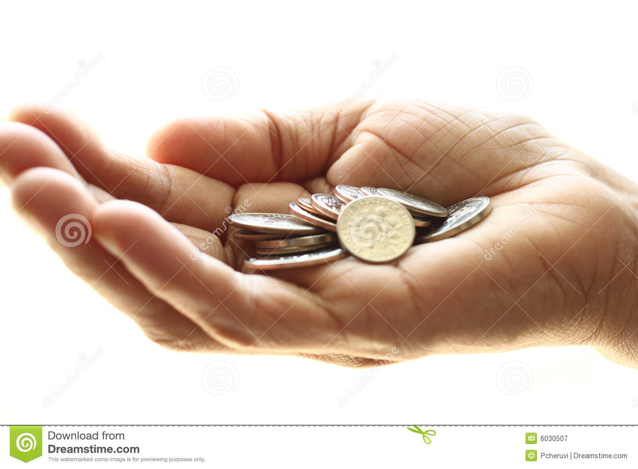 Hand With Coins Royalty Free Stock Photography Image