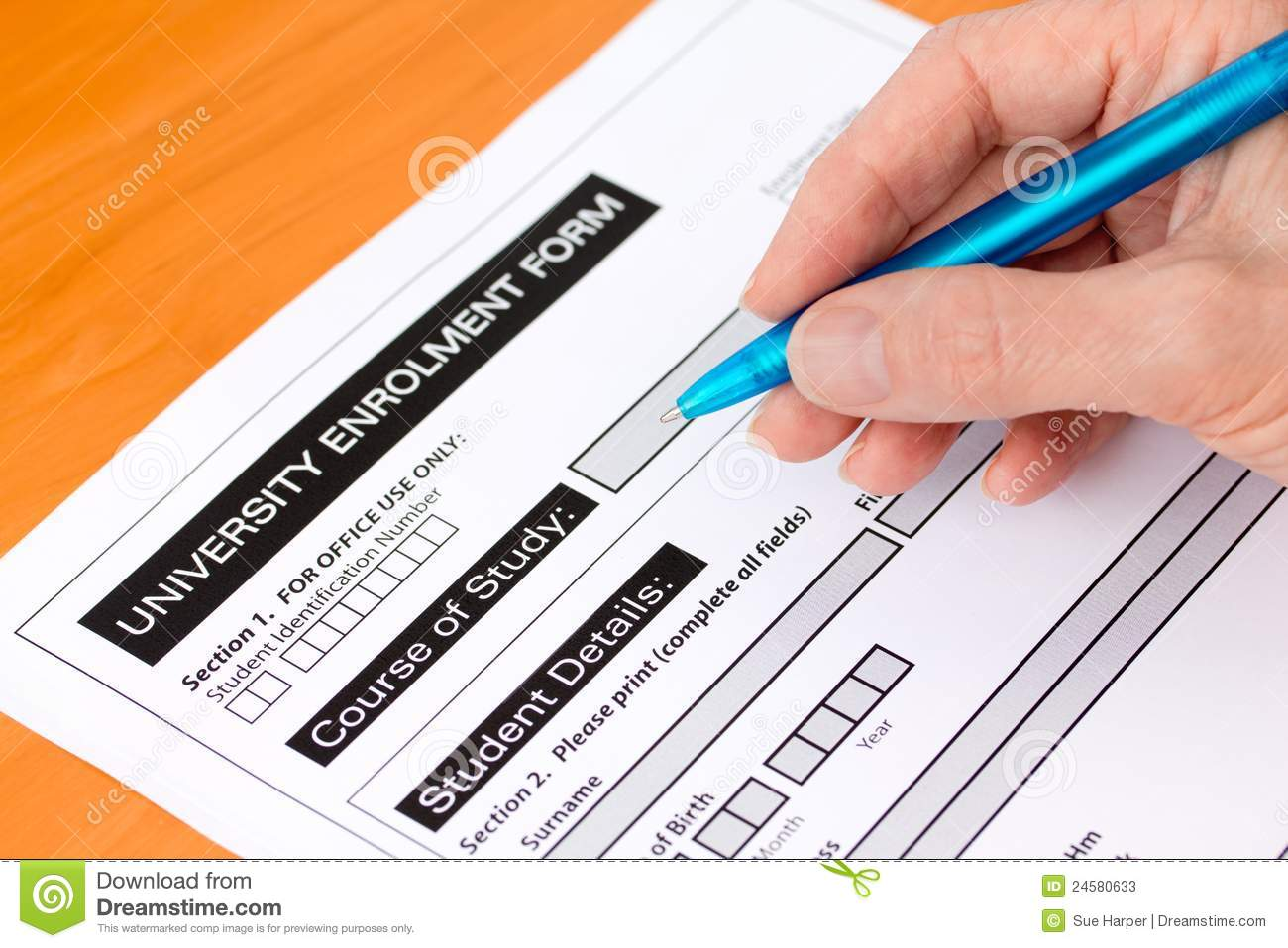 completing application forms