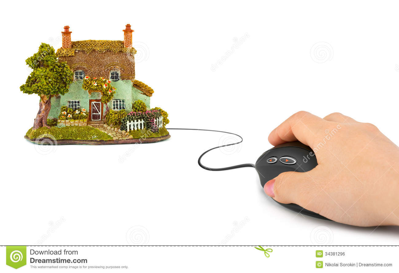 Model House And Computer Mouse Royalty-Free Stock ...