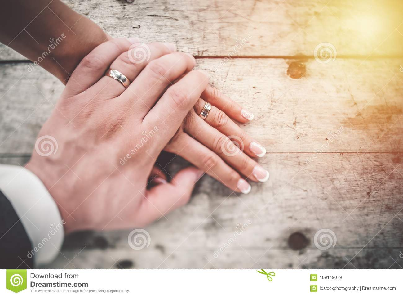 Hand In Hand. Couple In Love Showing Affection On Summer Day. Stock ...
