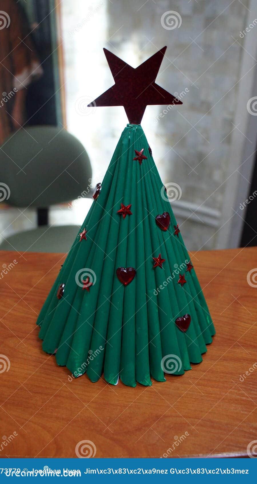 Hand Craft Christmas Tree Made Of Magazines Stock Image Image Of Representation Folded 165973779