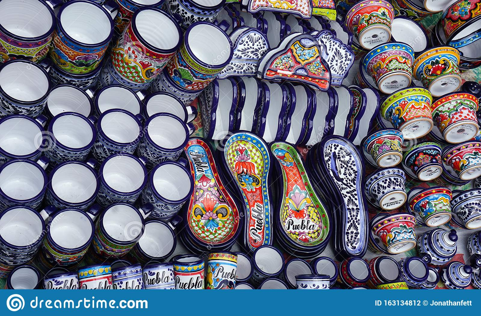 Famous Mexican Talavera Hand Crafts Editorial Photography Image Of Craft Baked 163134812