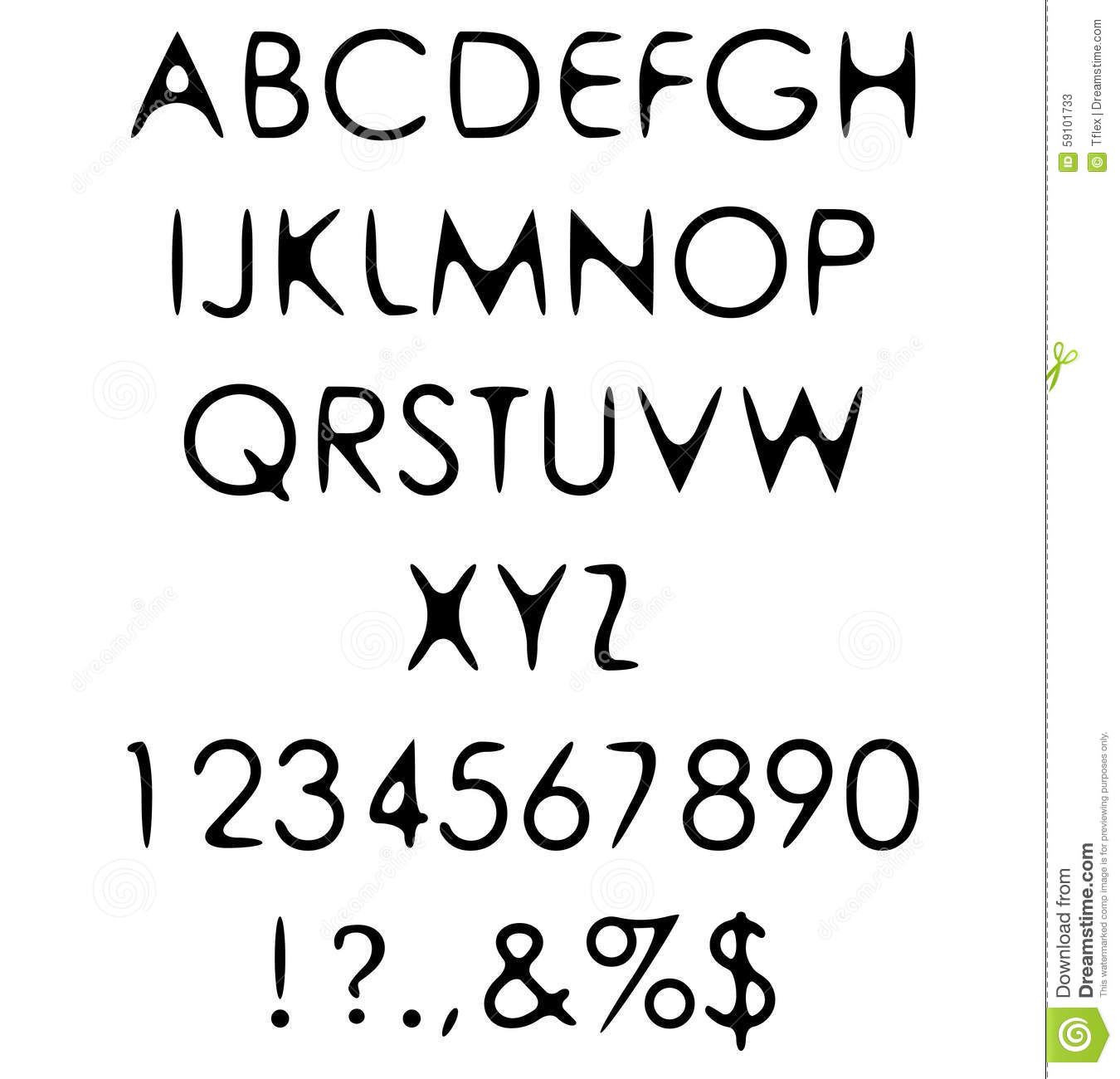 hand crafted retro font alphabet scratch gothic stock vector