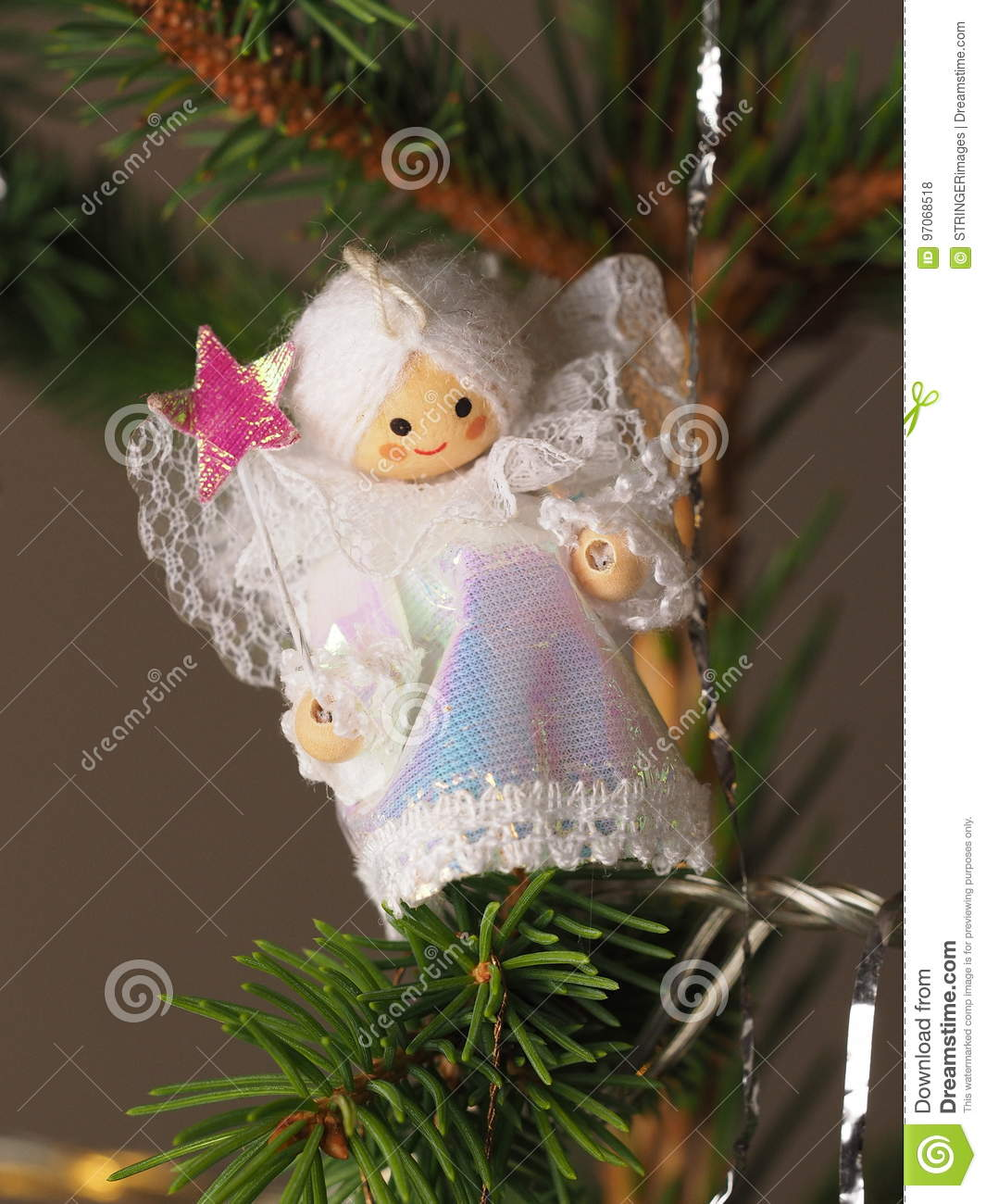 Hand Crafted Traditional Christmas Tree Decoration Angel